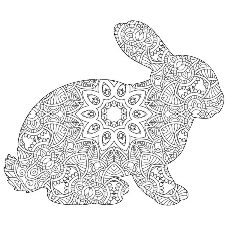 Bunny Mandala Coloring Page – Cute Bunny With Patterns