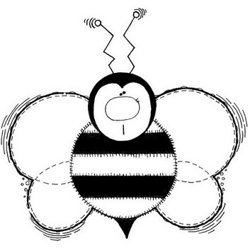 Buzz Bee Coloring Page