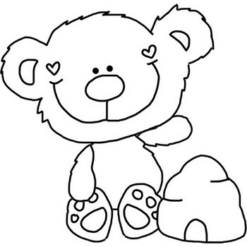 Honey Bear Coloring Page