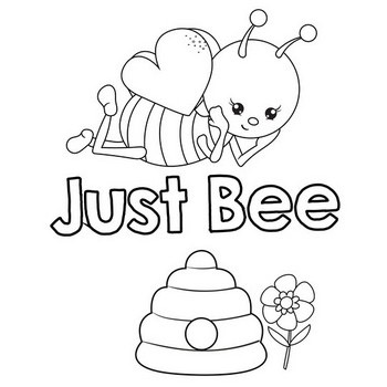 Just Bee Coloring Page