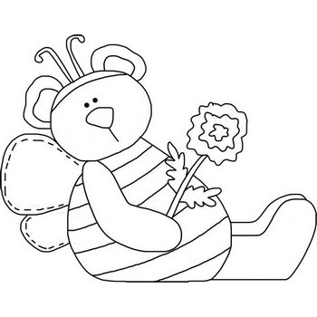 Relaxing Bee Coloring Page