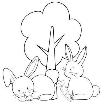 Bunny Coloring Pages Popular Cute Rabbit Coloring Pages