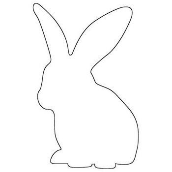 Long Ear Bunny Outline