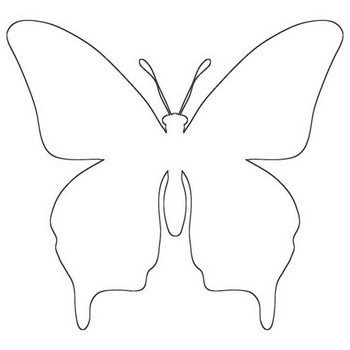 Magnificent Butterfly Outline