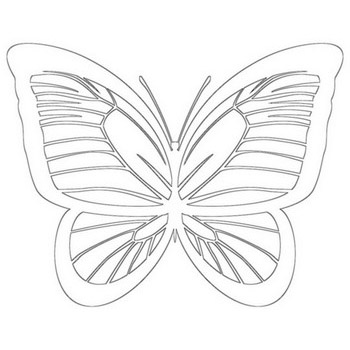 Cheerful Butterfly Coloring Page