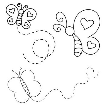 Happy Butterfly Coloring Page
