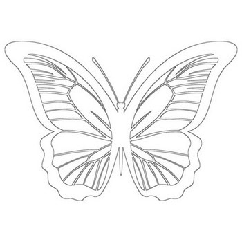 Lovely Butterfly Coloring Page