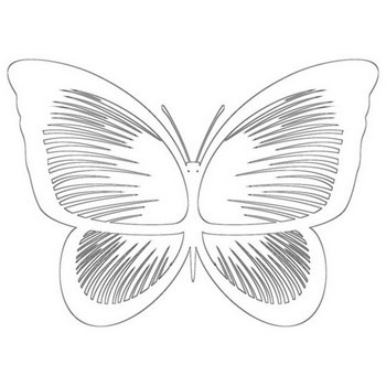 Perfect Butterfly Coloring Page