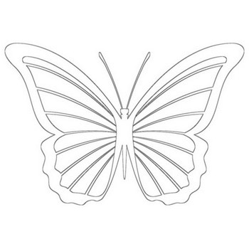 Popular Butterfly Coloring Page