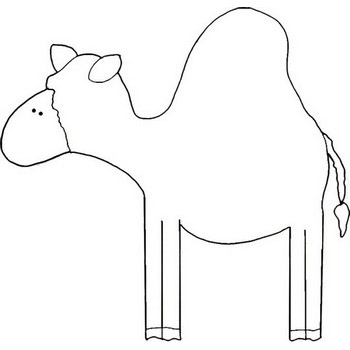 cute camel coloring page