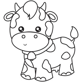 12 cow coloring pages  outlines  best cute cow scenes