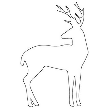 Deer Outline Coloring Page