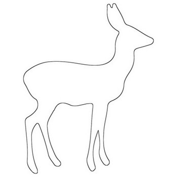 Fawn Deer Outline