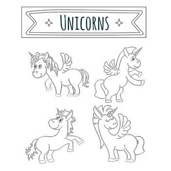 34 Unicorn Coloring Pages Cute Dancing Rainbow Unicorns