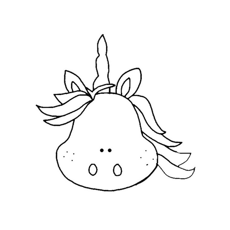 Unicorn Head Coloring Page - Go for Color at Coloring Buddy